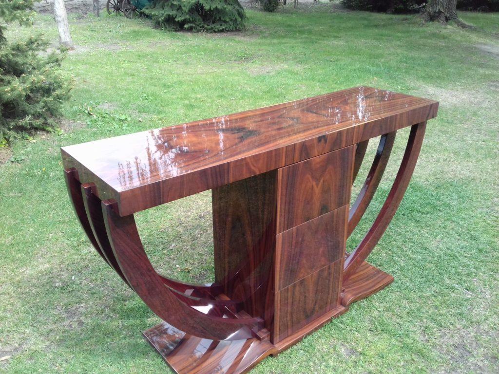 150*40*85 cm-es Paliszander fa Art-deco konzolasztal eladó.